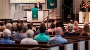 Rev Dr. Sam Wright at First Church, Sarasota, FL