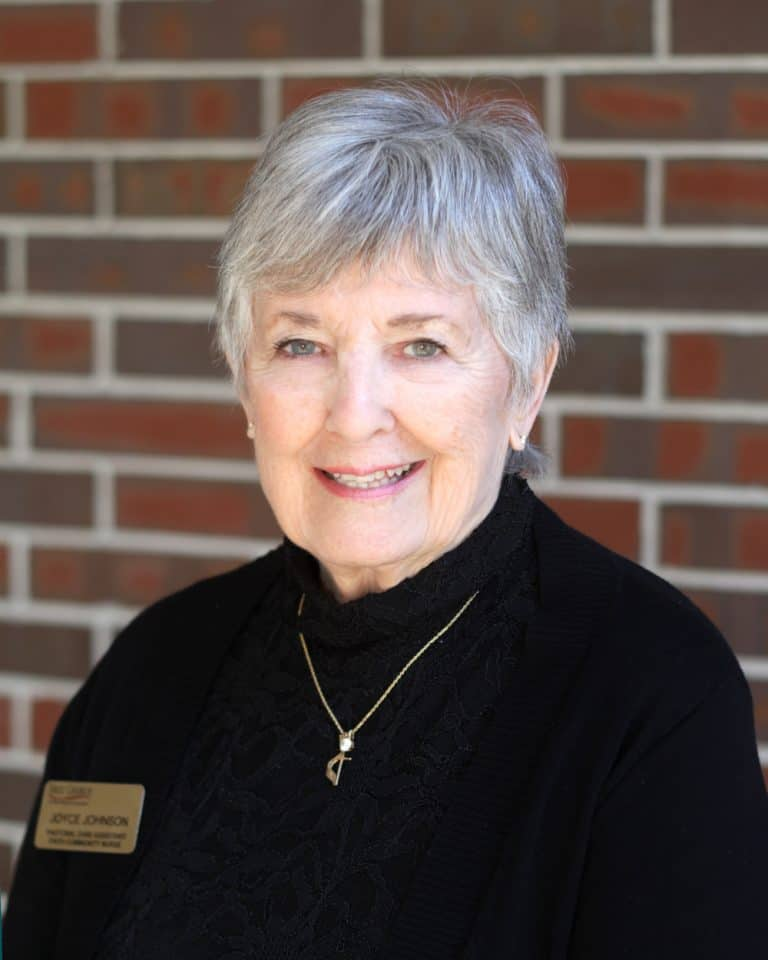 Joyce Johnson, Faith Community Nurse at First Church in Sarasota, Florida