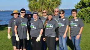 First Church Team Members volunteering