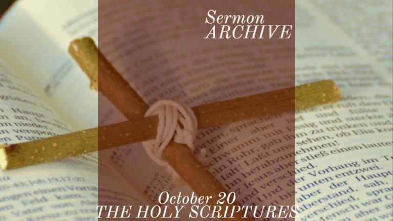 The Holy Scriptures Sermon at First Church, Sarasota Florida